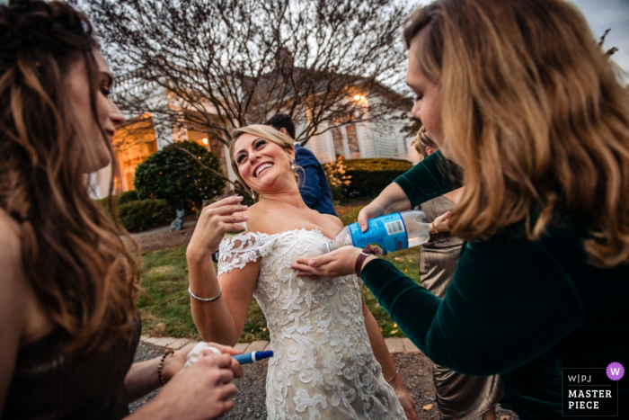 Black Horse Inn wedding venue photos | Red Wine be gone... Nothing a little Seltzer can't fix