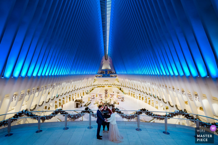 World Trade Center (PATH-Station)	Elopement Ceremony at PATH - Photography of bride and groom during their vows.