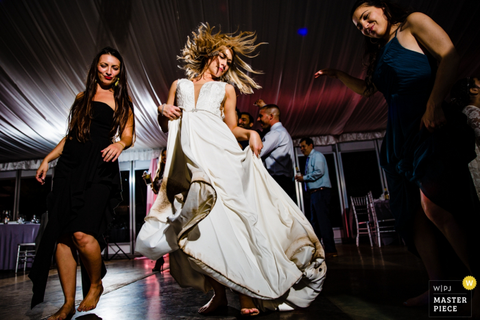 Hummingbird House Party time photography of wedding reception dancers