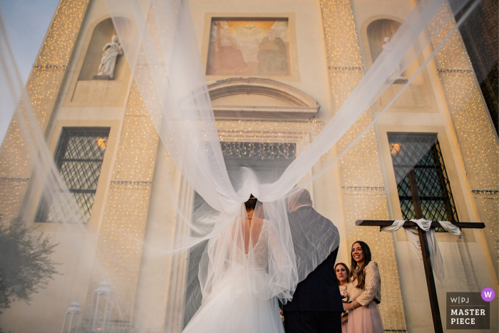 Stra- Padova wedding photos | The entrance of the bride at the ceremony
