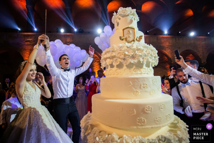 Castello Odescalchi - Bracciano - Italy reception photography   His Majesty, the wedding cake