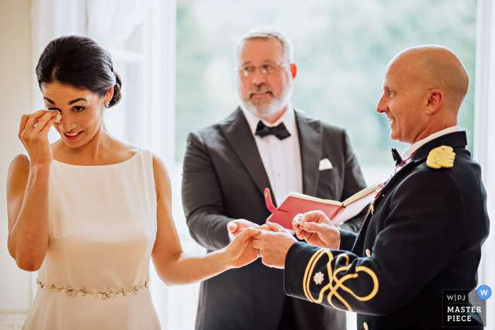 Europahaus Vienna	Wedding Photography | Emotional moment during the ring exchange.