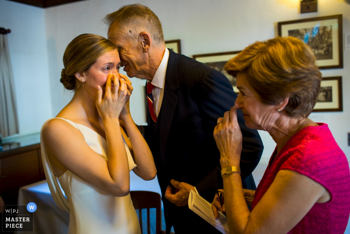 Ketubah signing at ceremony location of bride with her parents   N. CA wedding photography