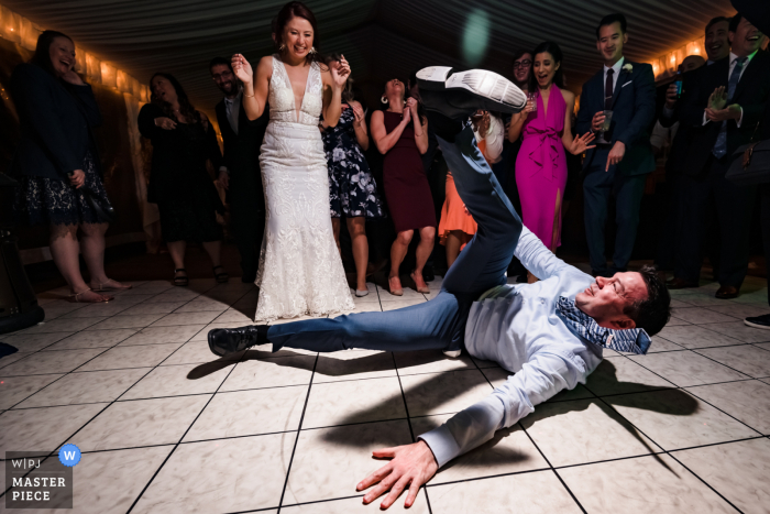 """Ocean Key Resort, Key West, Florida Wedding """"The dance floor started moving towards the end of the reception. A circle was formed and all of a sudden I had breakdancers in front of my lens. This image was made possible due to having an assistant with OCF"""""""