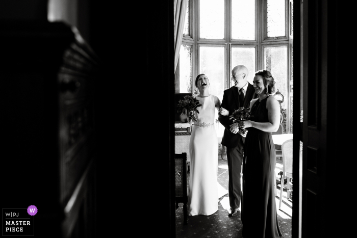England wedding photo from Manor By The Lake of The moment before the ceremony
