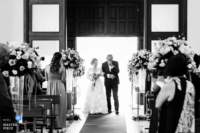 Regina Pacis Church, Paceco - Sicily Wedding photo in Sicily with the emotion of the father