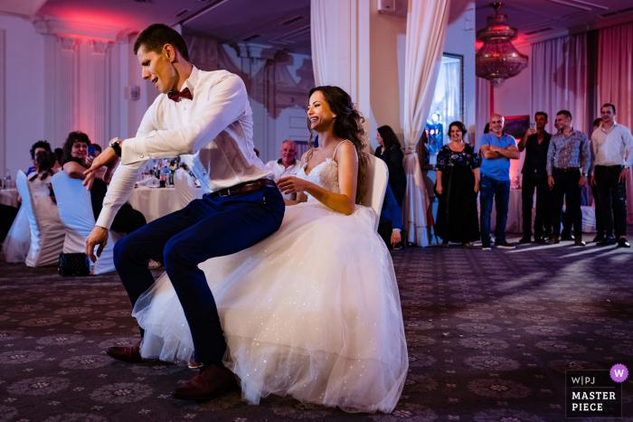 Wedding photography from Restaurant Tsarsko Selo, Sofia of the Groom`s dance