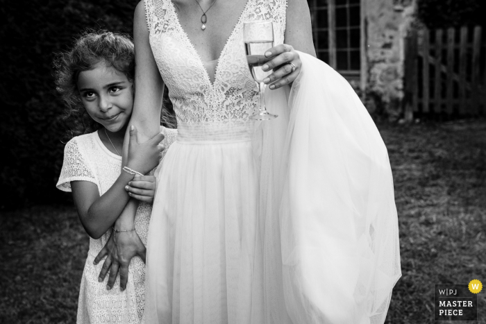 Wedding photo showing that Ferme De Bouchemont, France Brides maids are proud too