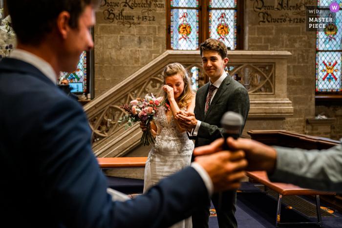 Town Hall Gent wedding photo from an Emotional speech