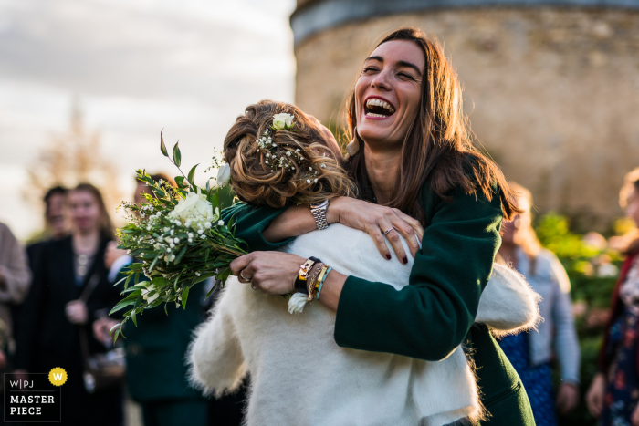 France wedding photography from Magny-Cours Planchevienne Castle as the flowers were caught - got it
