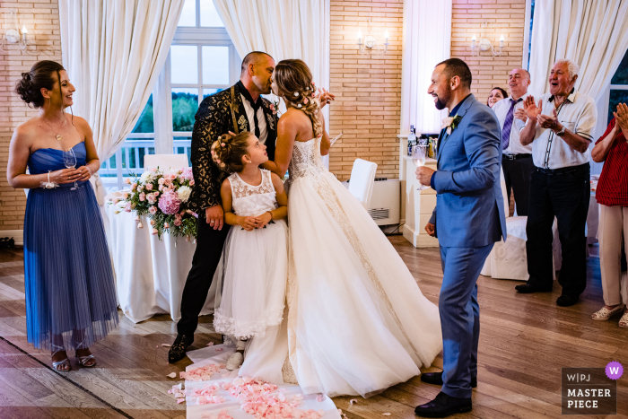 Bulgaria wedding photography from the venue of St. Sofia Golf Club of the big Kiss