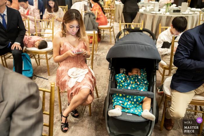 Wedding photography at the Waldorf Astoria Bangkokof kids sleeping time