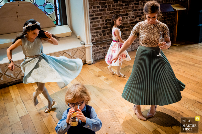 Ireland wedding photography from Smock Alley, Dublin of Kids dancing