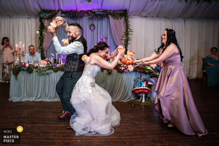 Sofia wedding photography from the Bulgaria Restaurant venue of the couple bread breaking - It`s mine