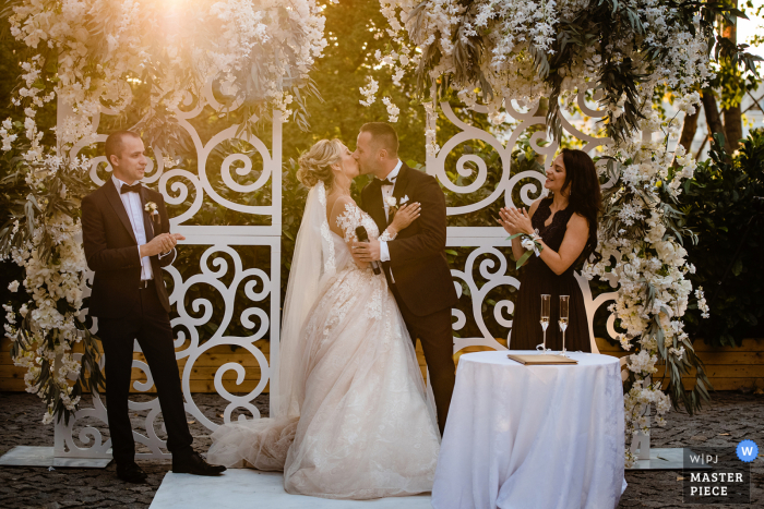 Bulgaria wedding photo from Terra Residence, Sofia showing the Beautiful natural light during the ceremony