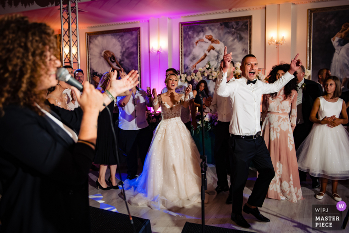 Terra Residence, Sofia Wedding party photography at the reception dance