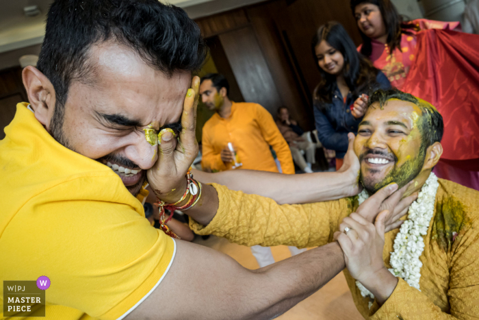 India wedding photo from Delhi of the Haldi and Turmeric ritual ceremony