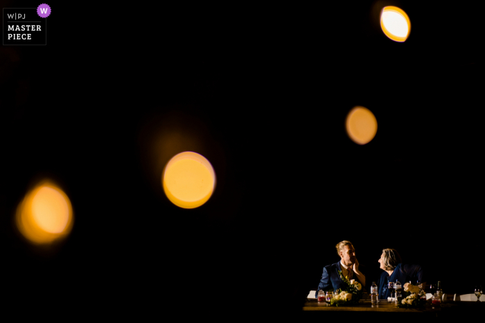 Western Australia Wedding Reception Venue image of the Mother and son with a dark background