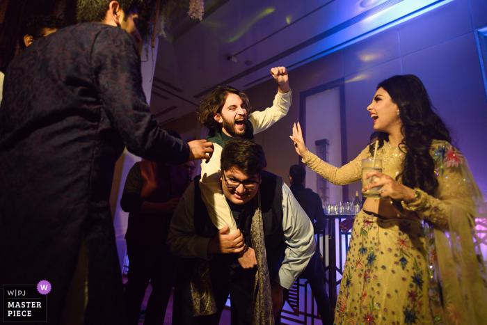 Delhi, India  wedding photo of some dance floor action
