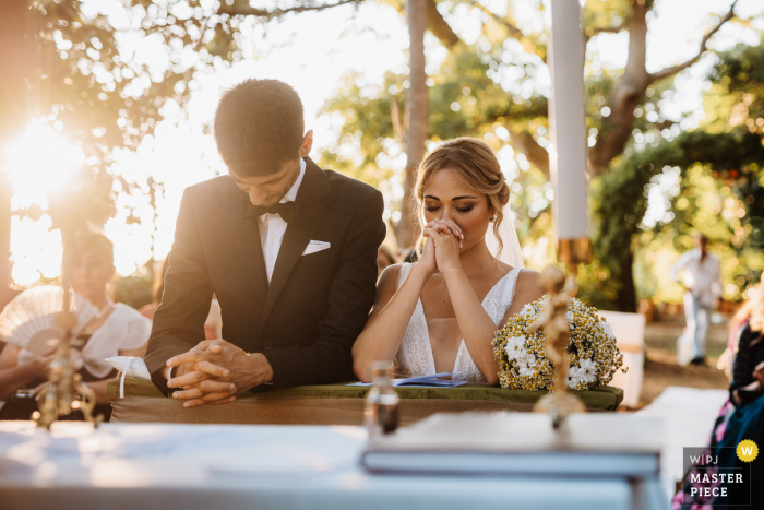 Apulia Ceremony wedding photography from the outdoor ceremony in the afternoon sun under the trees