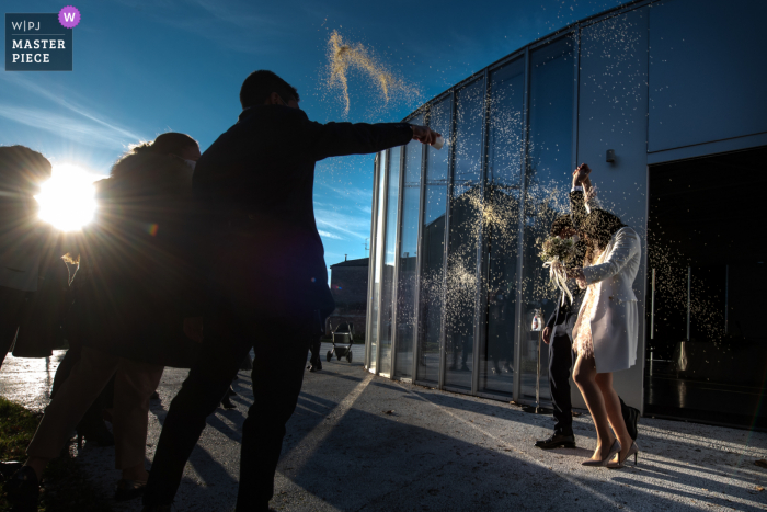 Centro Hub Oltrepo Mantovano best wedding photography from Quistello, Mantua showing a pic of a point of view that allows the capture of a beautiful day in late January