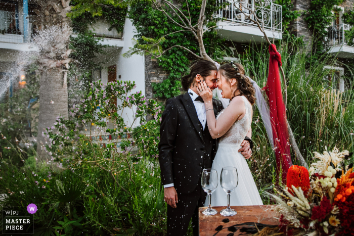 A wedding photographer in Bodrum, Turkey created this image ofchampagne time when they said yes