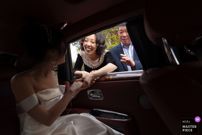 Zhejiang nuptial day award-winning image of the send off of the bride by parents