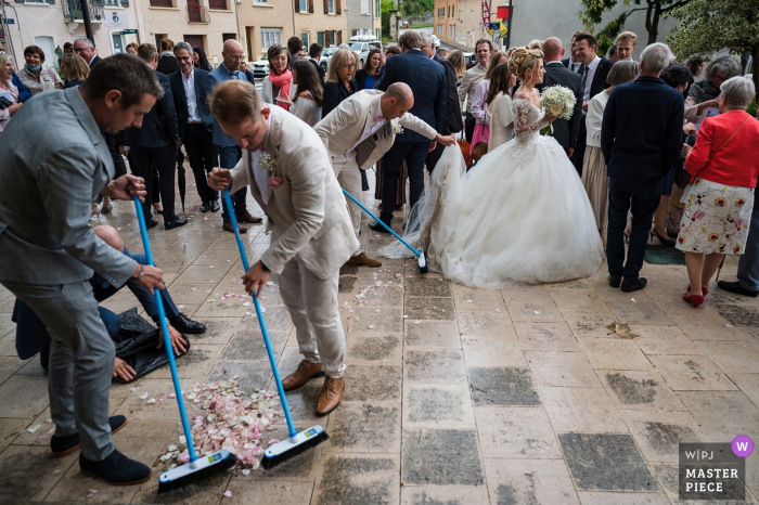 Lyon nuptial day award-winning image of church sweeping outdoors. The world's best wedding photography competitions are hosted by the WPJA