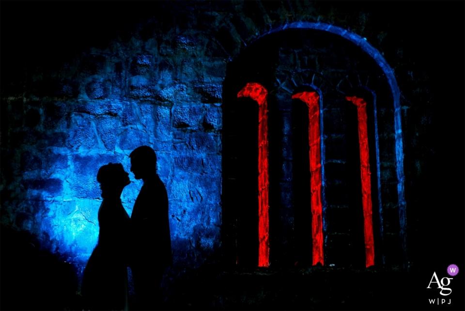 Smederevo Fortress, Serbia Portrait de jeune mariée éclairée