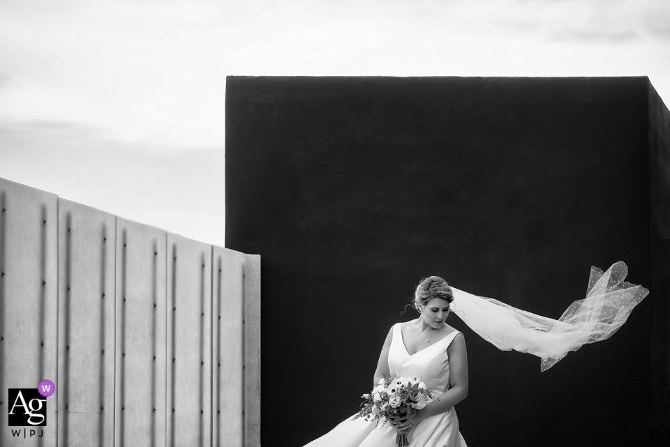 内华达州艺术博物馆,里诺内华达州肖像摄影中的新娘在风中