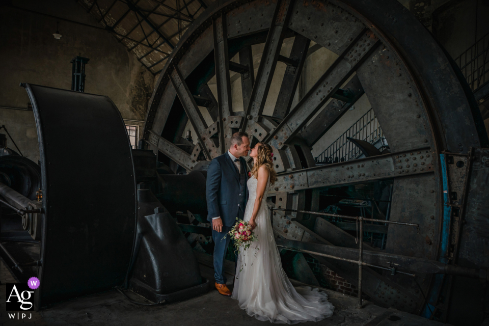 Zeche Fürst Leopold Dorsten bride and groom industrial portrait