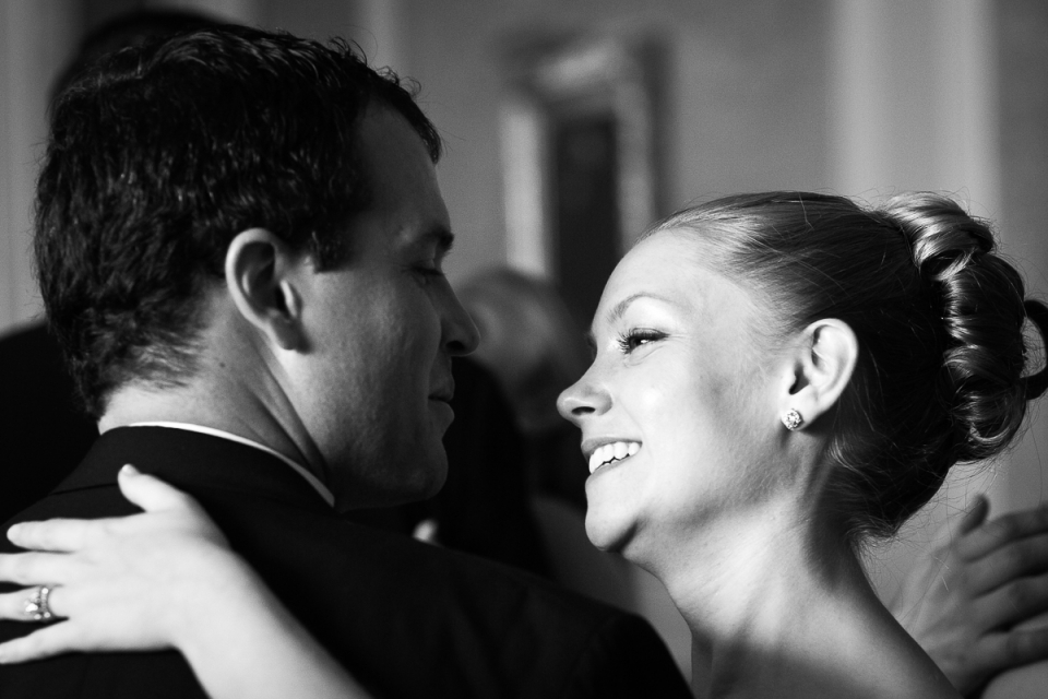 Bride and groom dance at The Washington Club wedding reception.