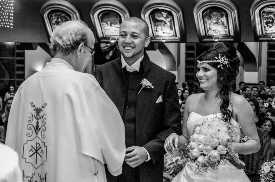 São José dos Campos - SP wedding ceremony photography in black and white