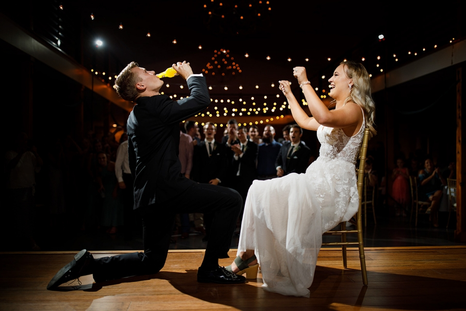 Emerson Fields wedding photography from the reception with bride and groom on dance floor