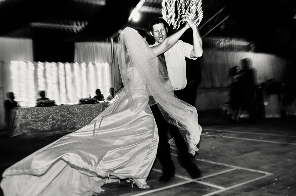 A private residence wedding reception dancing image from Robertson Farm