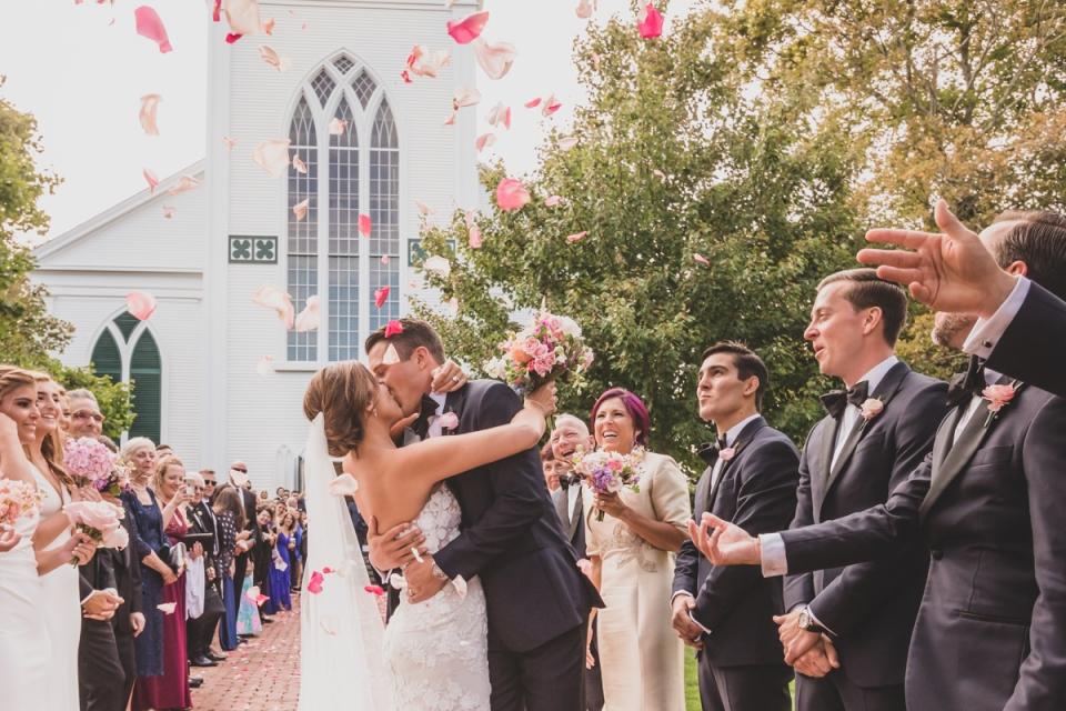 第一公理會的婚禮攝影-馬薩諸塞州楠塔基特