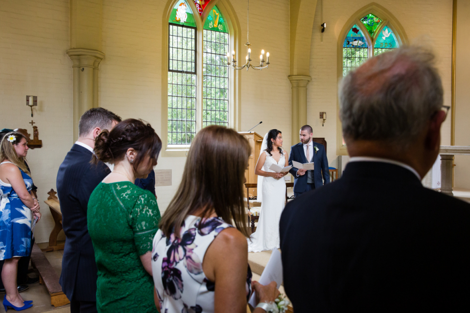 Wedding image of the bride and groom at the Sandhill Close, Millbrook, Bedford, United Kingdom