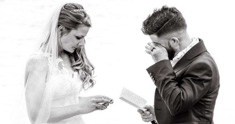 Svizzera Zug Wedding Fotografia della cerimonia dei voti in lacrime sul Reno