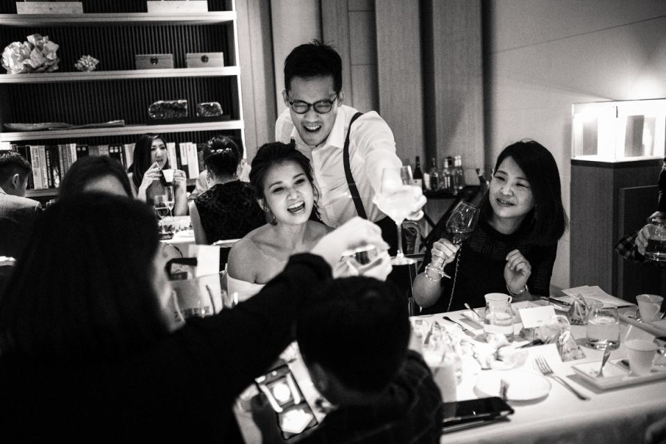 A fotografia de banquete de casamento na Câmara Alta em Hong Kong