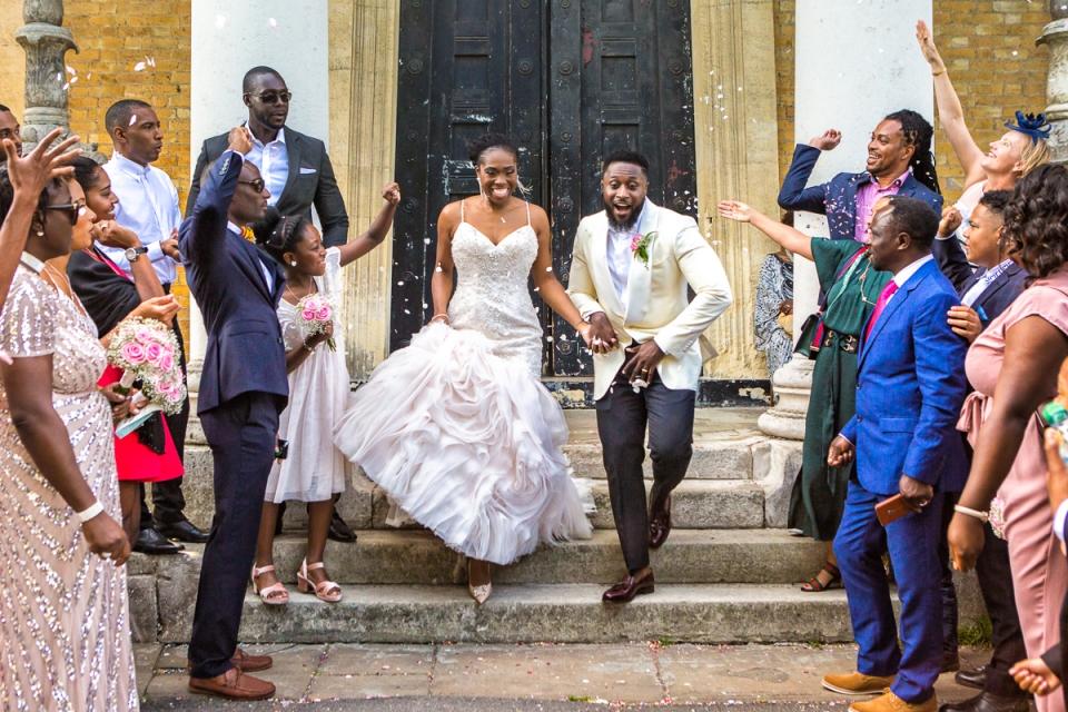 Londense huwelijksfotograaf in het asiel