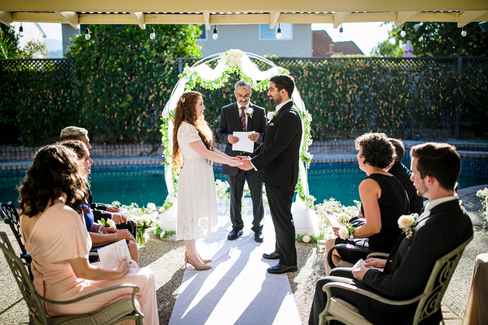 Image from an intimate San Jose, California Backyard Wedding by Tyler Vu