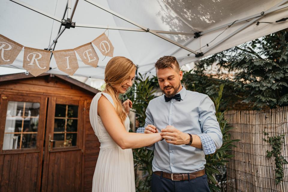 Garden Ceremony Elopement Wedding Photo by Patrycja Janik
