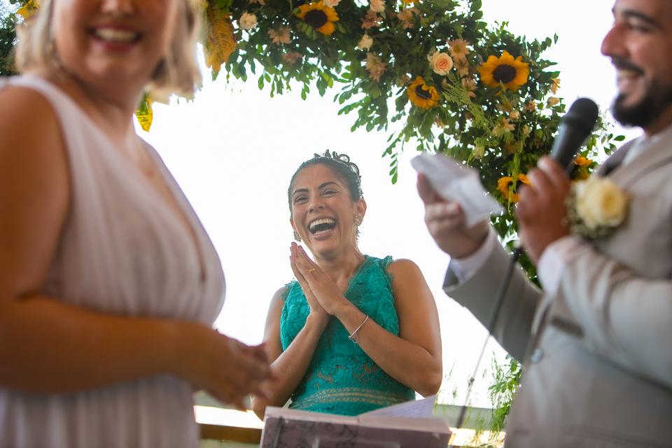 A garden wedding image from Cafe Manollo Restaurant Maceio, Alagoas, Brazil - Elopement Photography by Gustavo Sarmento