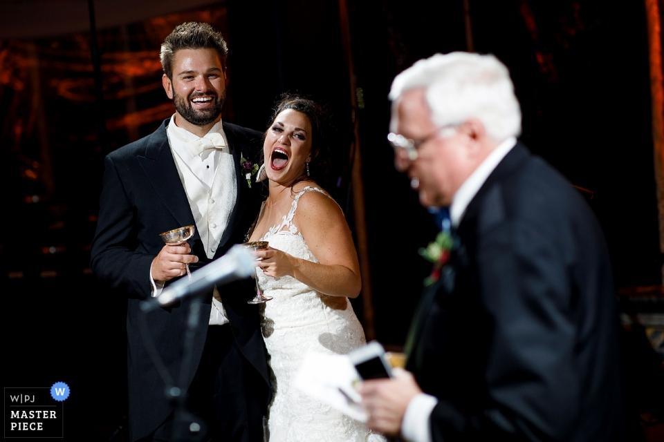 Cherokee Ranch-Hochzeitsempfangsrede mit Braut und Bräutigam