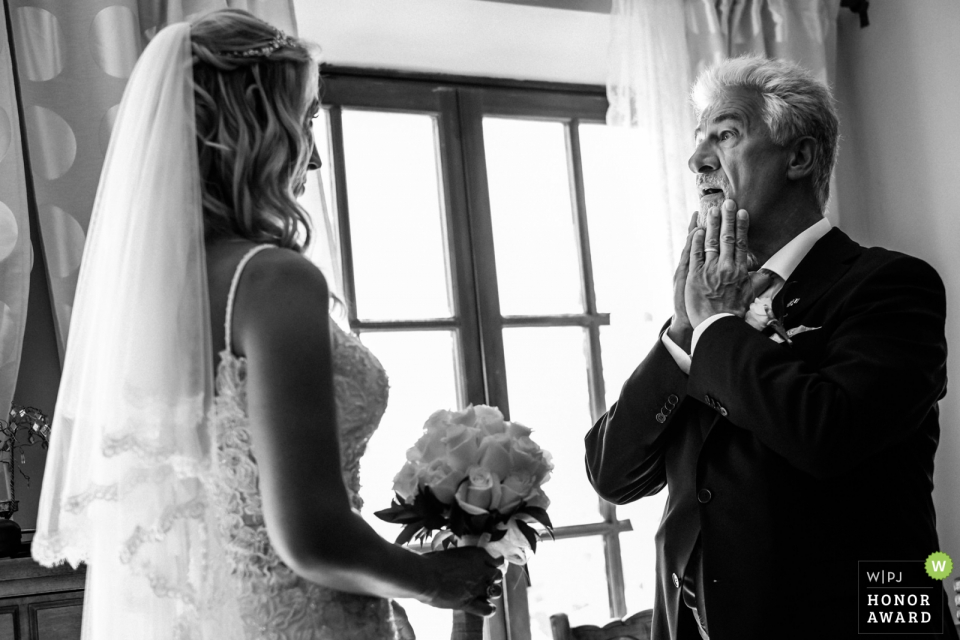 Hacienda San Jose Hotel Rural | Father sees the bride for the first time