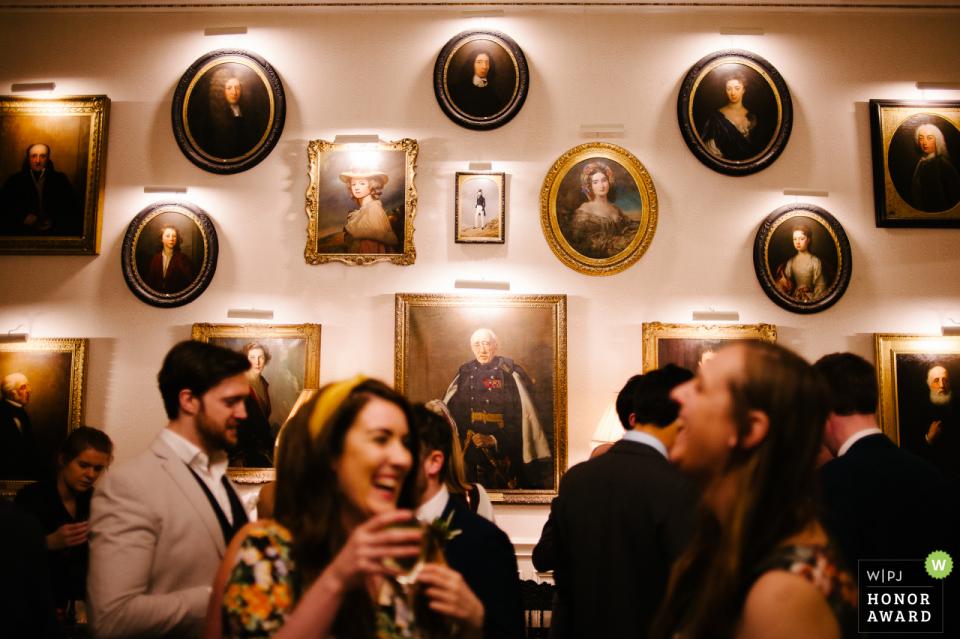 Capesthorne Hall, Cheshire, Regno Unito, serata di matrimonio, ricevimento, fotografia