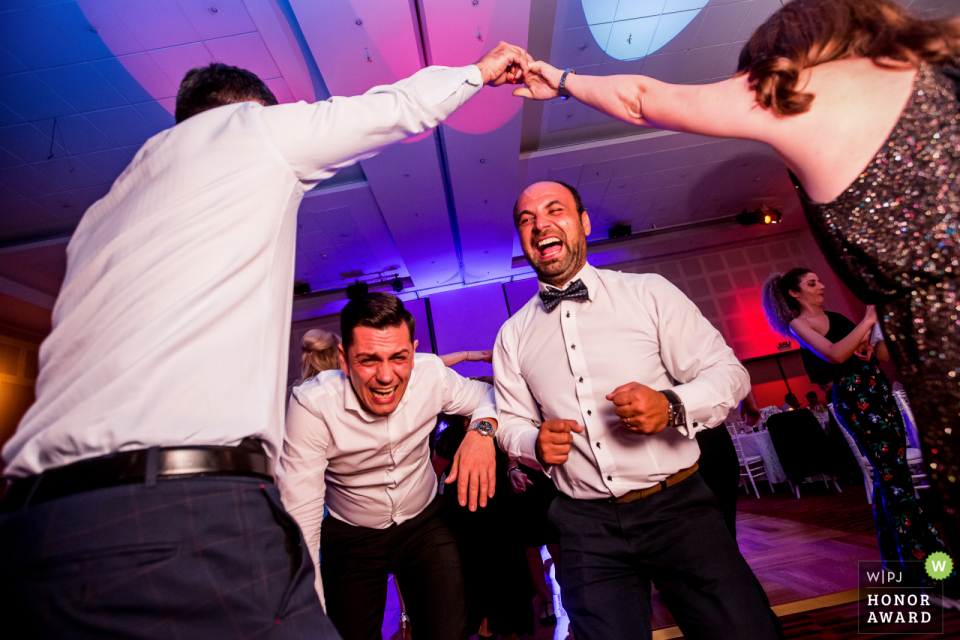 Hotel Novotel, Bucharest wedding venue photography | Action on the dance floor