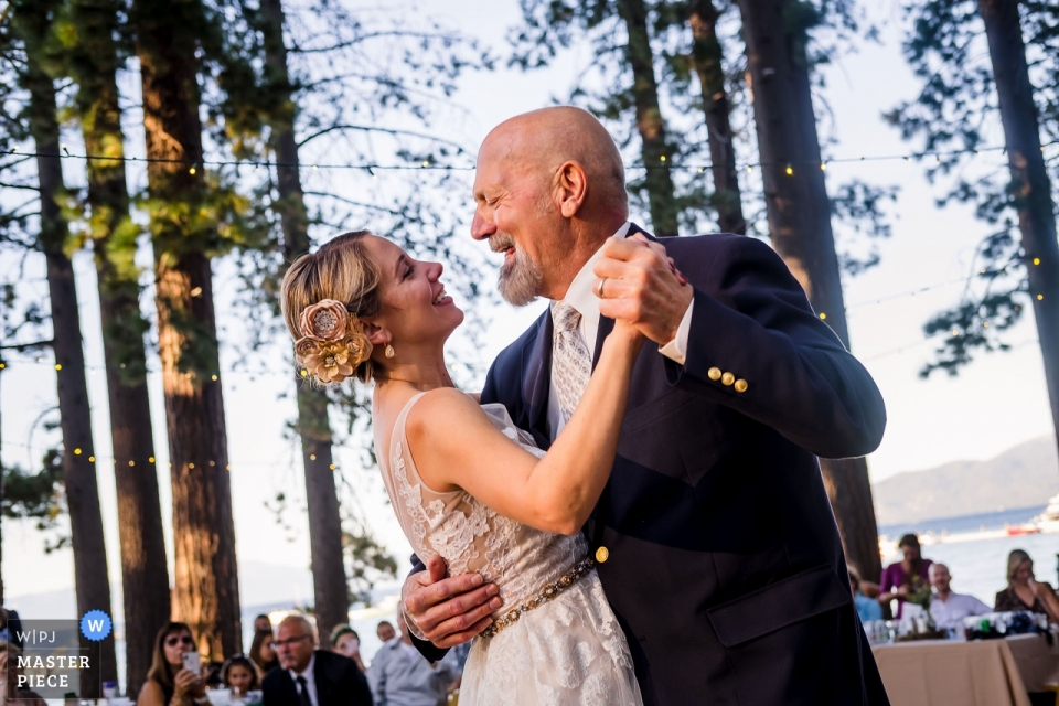 Wedding Photography from Camp Richardson Resort Lake Tahoe - Image from the First dance with Dad