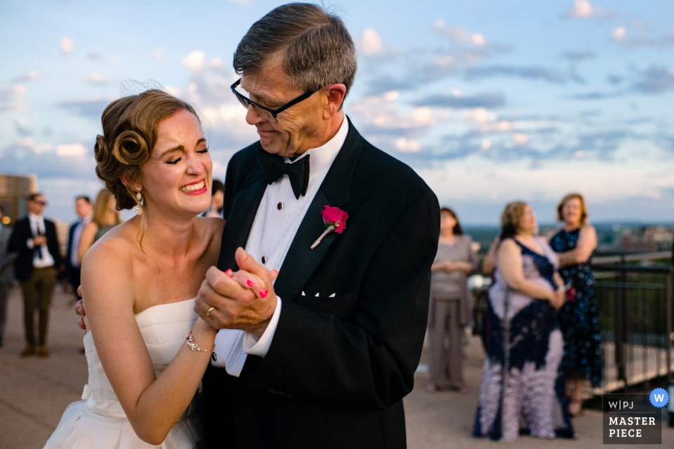 Edgewater Hotel Madison wedding venue photography showing the Father Daughter dance