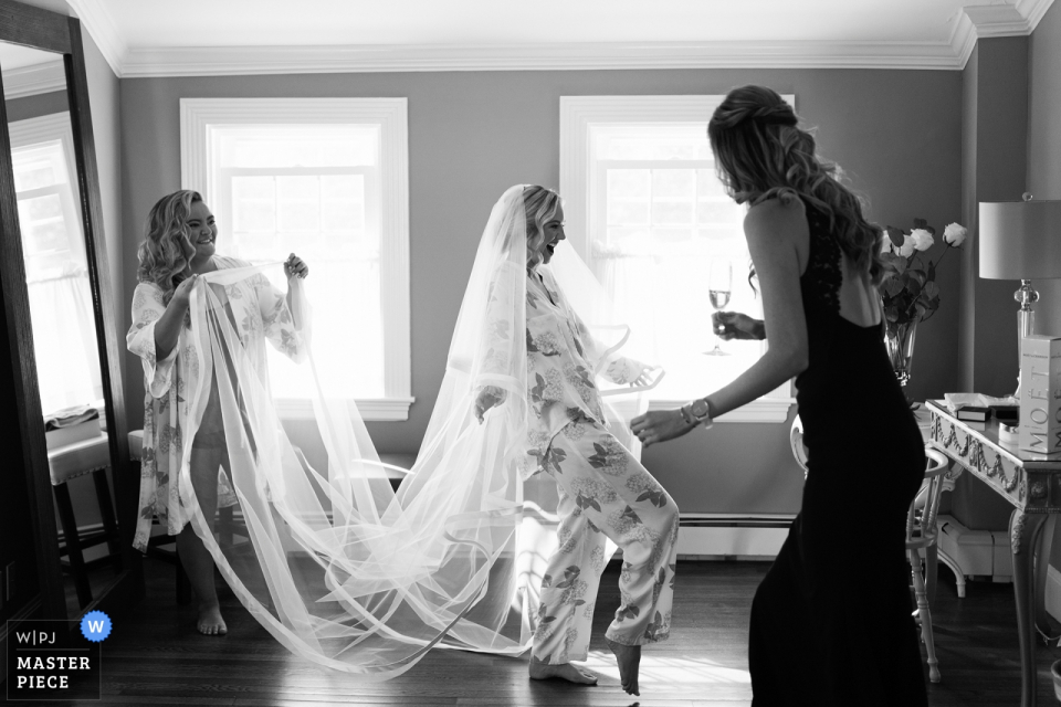 Dennis Inn, Cape Cod, MA - The moment from bride's getting ready